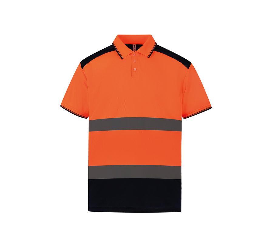 Veiligheids polo oranje / navy