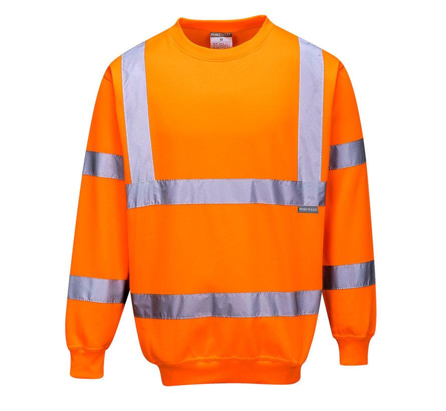 RWS reflecterende trui oranje (Veiligheidstrui)