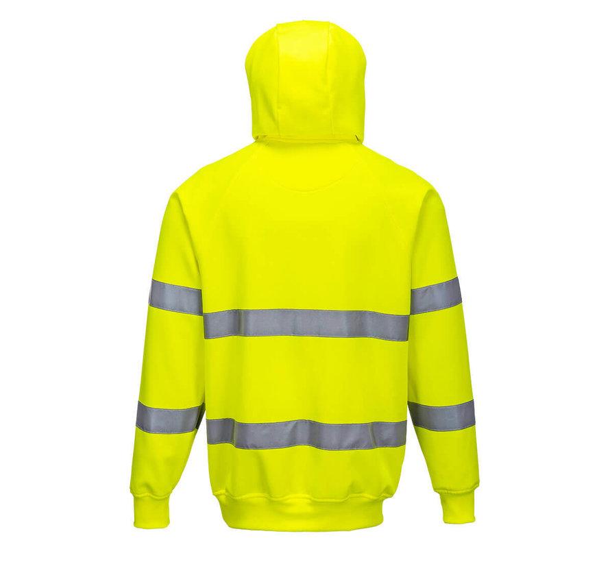 Reflecterende hoodie geel (Veiligheidshoodie)