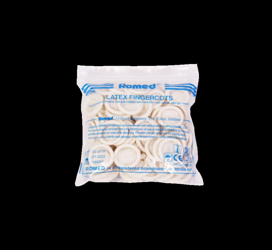Vingercondooms latex zak (100 stuks)