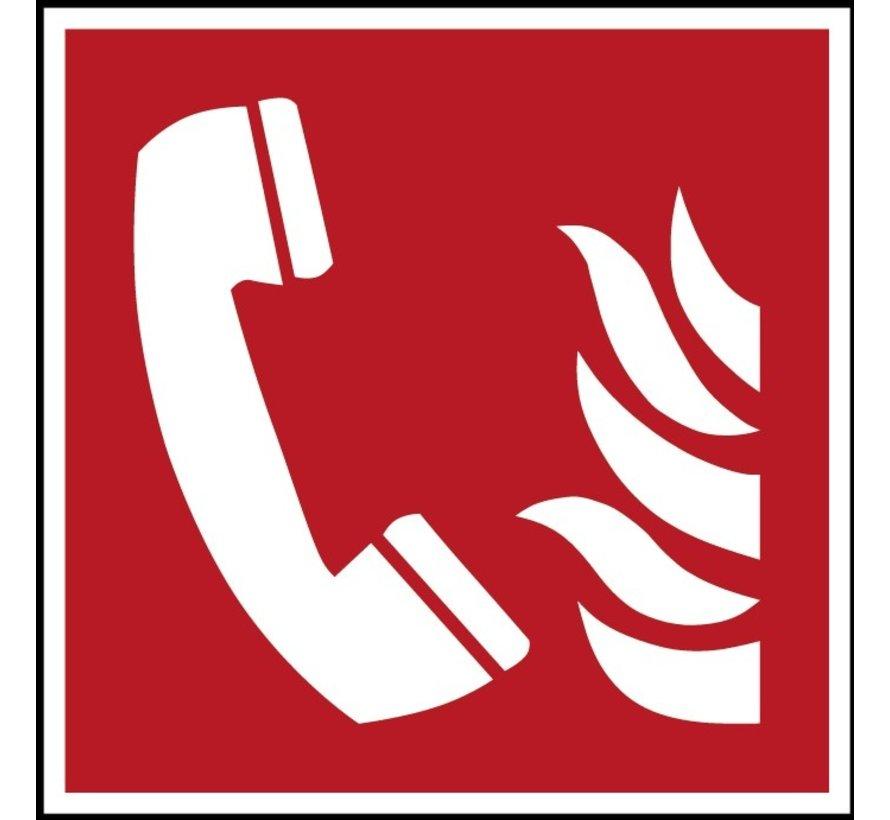 Telefoon voor brandalarm pictogram