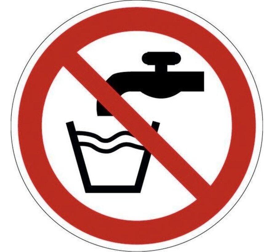 Geen drinkwater pictogram