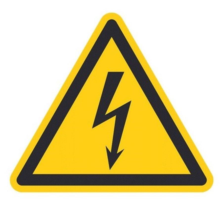 Waarschuwingssticker elektrische spanning, op rol