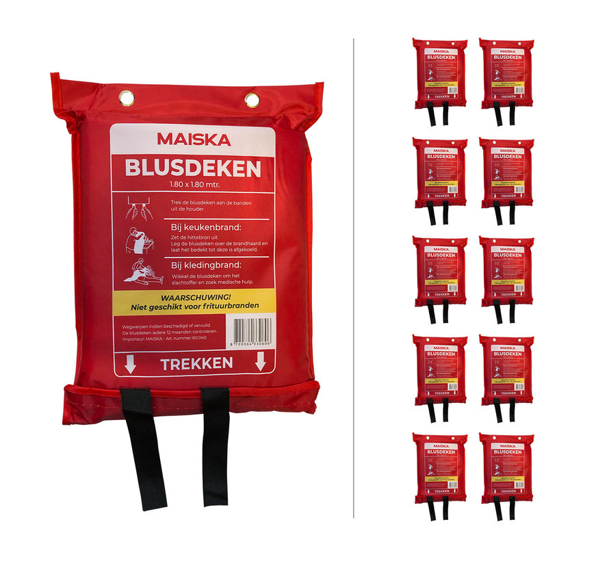 10-pack softbag Blusdeken MAISKA 180 x180 cm