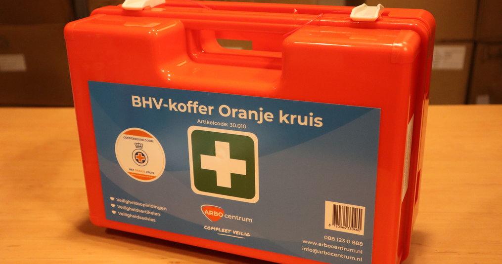 Verbanddoos inhoud Oranje Kruis