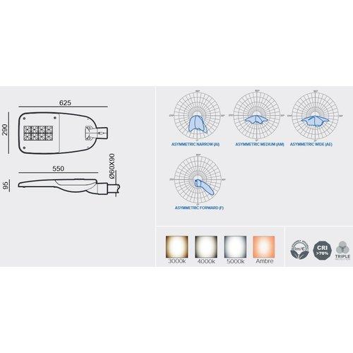 Olest-Novatilu Milan-M 60W LED straatverlichting, 7602 lumen