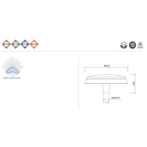Olest-Novatilu Dallas Plus 60W LED straatverlichting, 7200 lumen