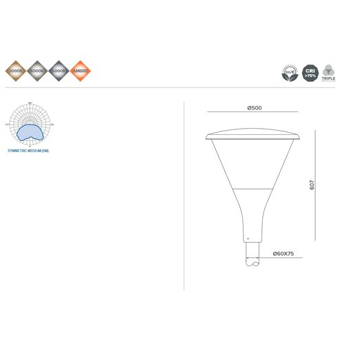 Olest-Novatilu Dallas Copa 40W LED straatverlichting, 3200 lumen