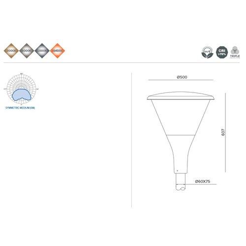 Olest-Novatilu Dallas Copa 60W LED straatverlichting, 4800 lumen