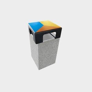 Olest-Novatilu Buitenafvalbak Dado trio recycling met deksel