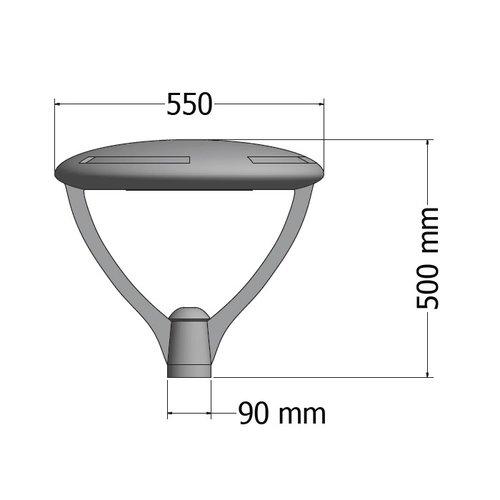 Olest-Eulux Scudo-TES LED 20W, 3200 lumen in 2700, 3000, 4000, 5000K,  2200K(Amber) en Groen