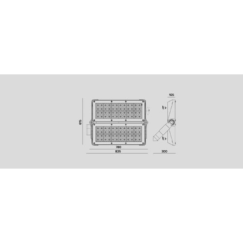 Olest-Novatilu Apolo L Projector 1000W LED straatverlichting, 120000 lumen