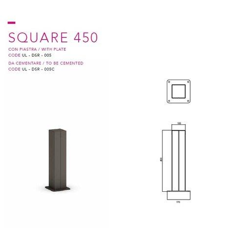 Olest-The Italian Lab Afzetpaal Square 450 (ook in verwijderbare uitvoering leverbaar)