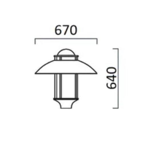Olest-SLF Lisa 02 15-36W LED, 1835 -4057 lumen in 3000 en 4000K (2700 en 2200K(Amber) tegen meerprijs)