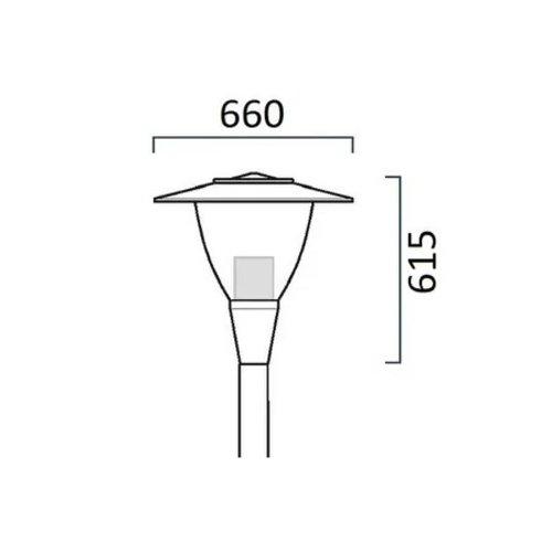 Olest-SLF Pilz 2 15-36W LED, 1835 -4057 lumen in 3000 en 4000K (2700 en 2200K(Amber) tegen meerprijs)