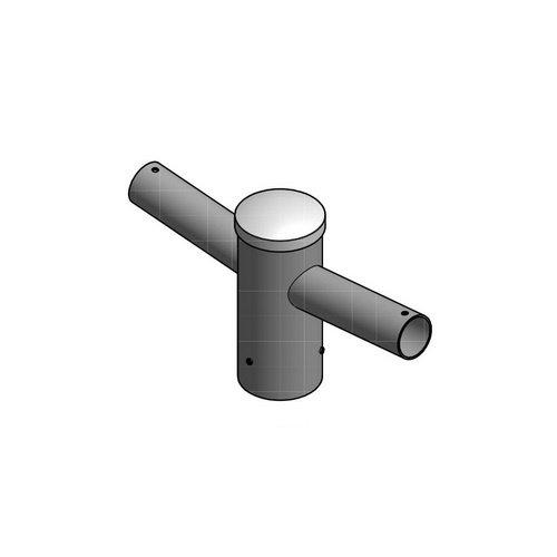 Olest Dubbele aluminium uithouder, voor mast 60mm, lengte uithouder 150mm, topmaat 60 mm
