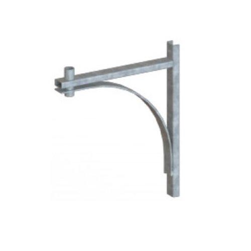 Olest Verzinkte wand uithouder/muursteun, model 4, lengte uithouder 500 of 1000mm, topmaat 60 mm