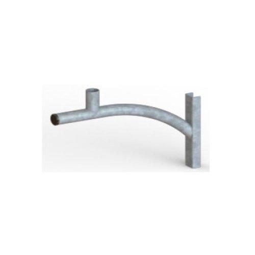 Olest Verzinkte wand uithouder/muursteun, model 5, lengte uithouder 500 of 800mm, topmaat 60 mm