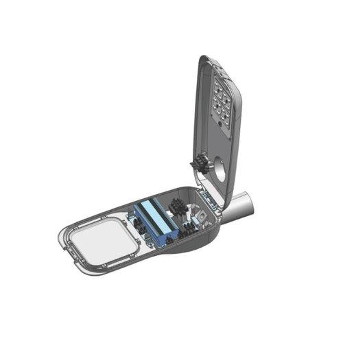 Olest Delia-S 27W LED straatverlichting, 3100 lumen met bewegingssensor on/off of on/DIM(corridor functie) en lichtsensor