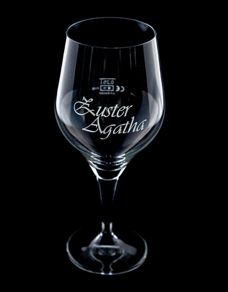 Muifel Glas Speciaal glas voor de Zuster Agatha! 25 cl