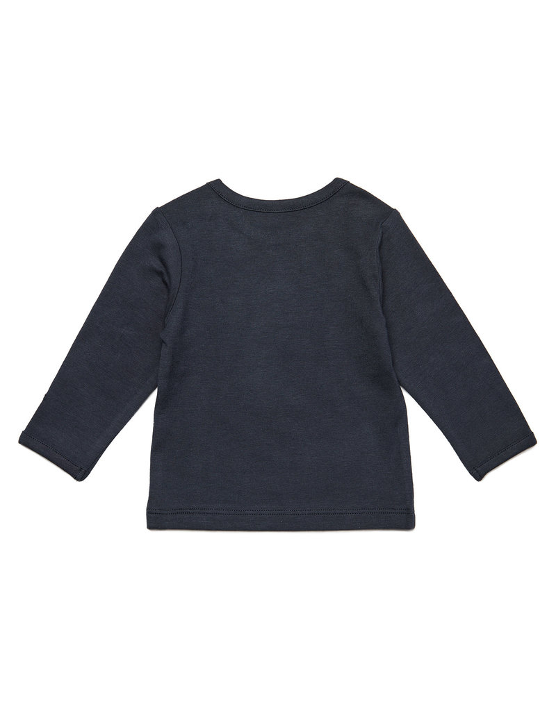 Noppies Noppies longsleeve hester text charcoal