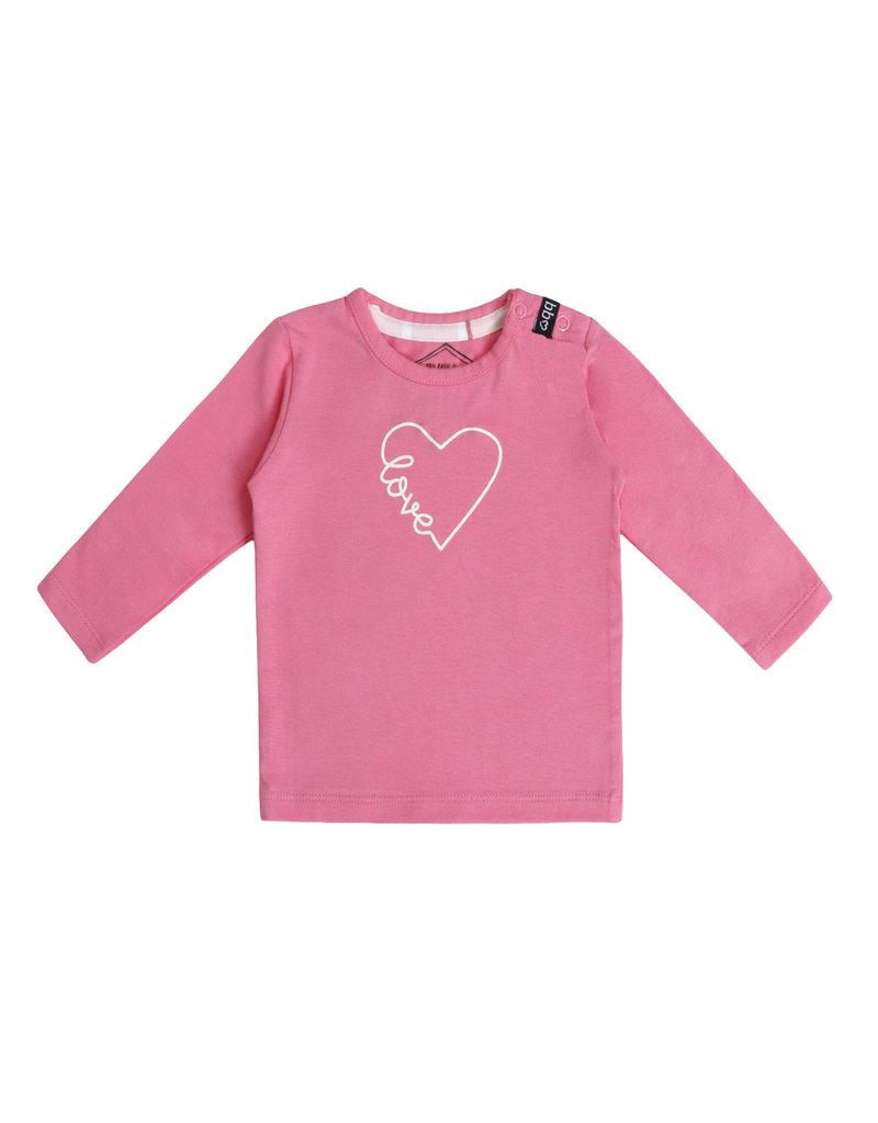 Beebielove Beebielove newborn longsleeve heart pink