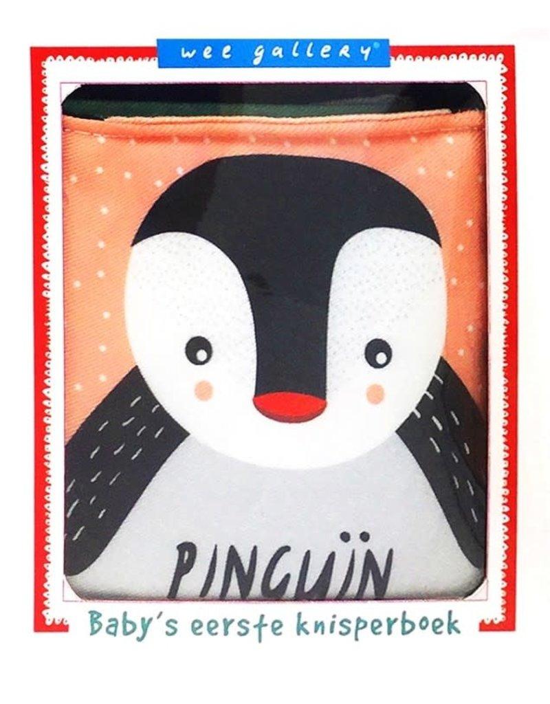 Wee gallery stoffen knisperboek pinguin