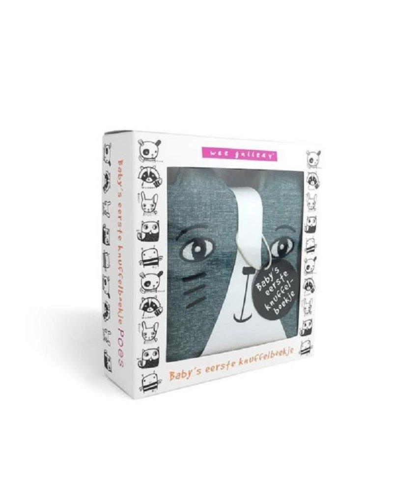 Wee gallery stoffen Knisperboek poes