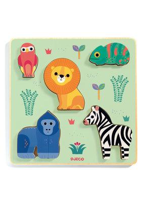 Djeco Djeco houten puzzel safari