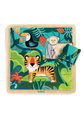 Djeco Djeco houten puzzel jungle dj01810