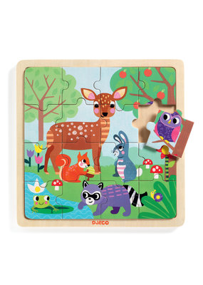 Djeco Djeco houten puzzel forrest