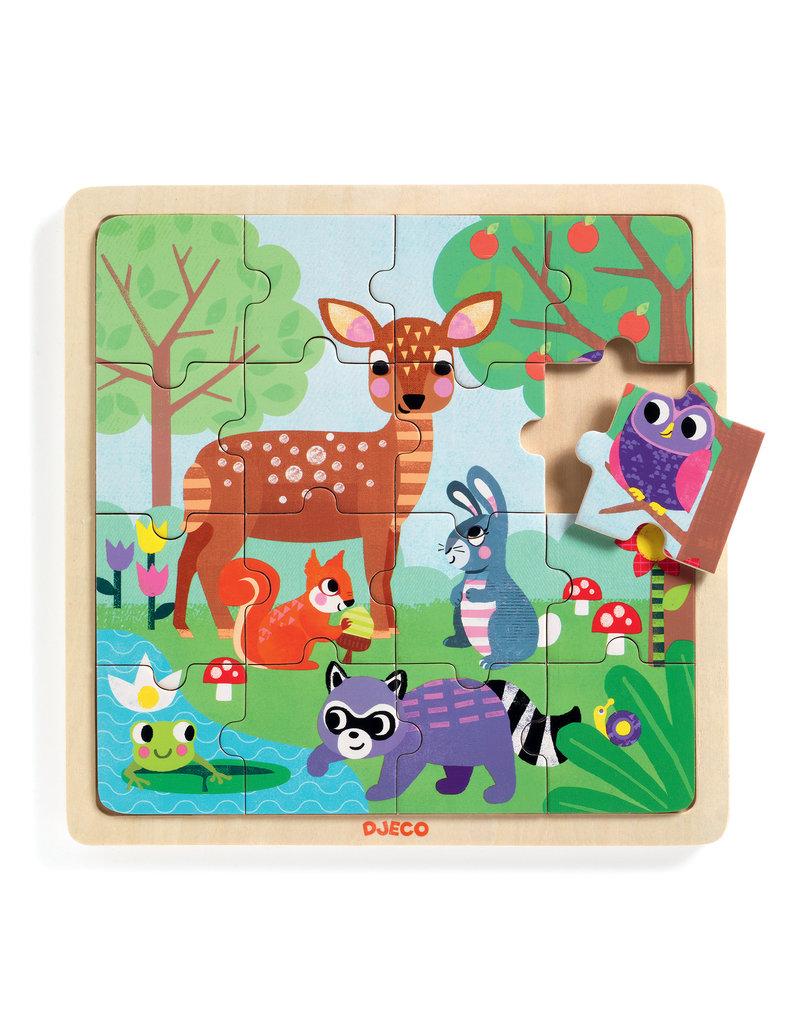 Djeco Djeco houten puzzel forrest dj01812