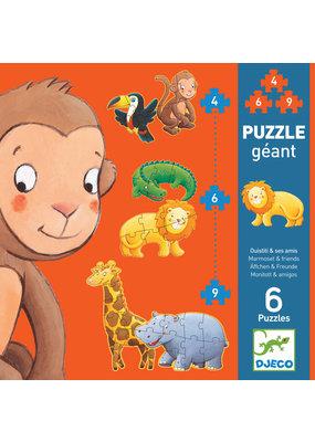 Djeco Djeco puzzel safaridieren