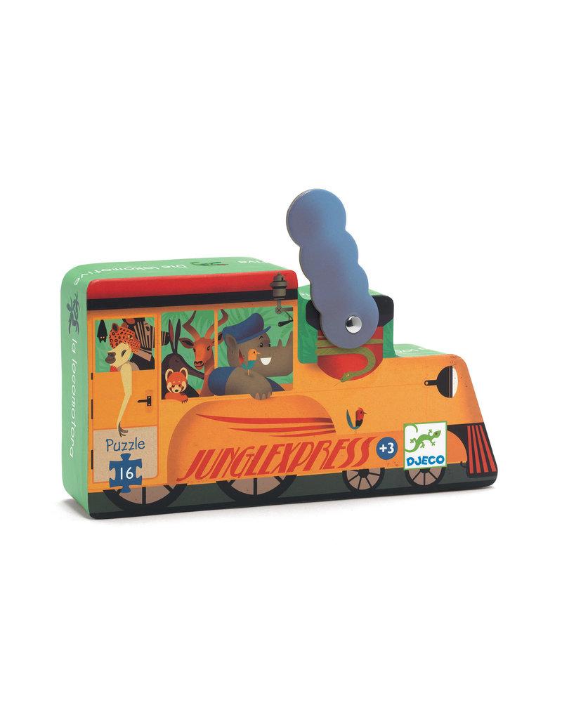 Djeco Djeco puzzel locomotief 16pc dj07267