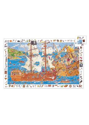 Djeco Djeco observatie puzzel piraten 100 stukjes