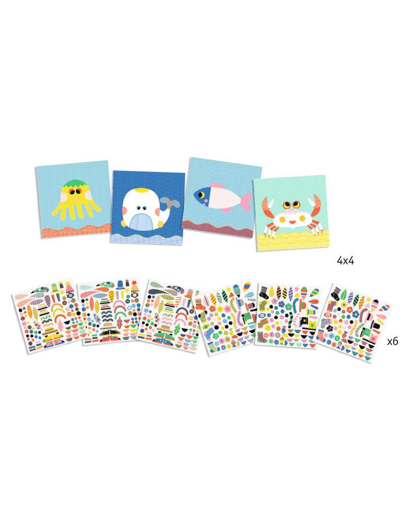 Djeco Djeco creëer met stickers Zeedieren dj08931