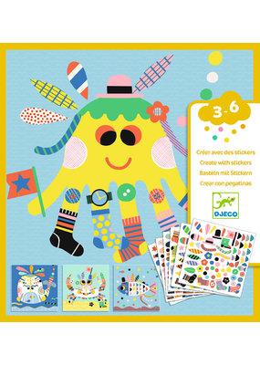 Djeco Djeco creëer met stickers Zeedieren