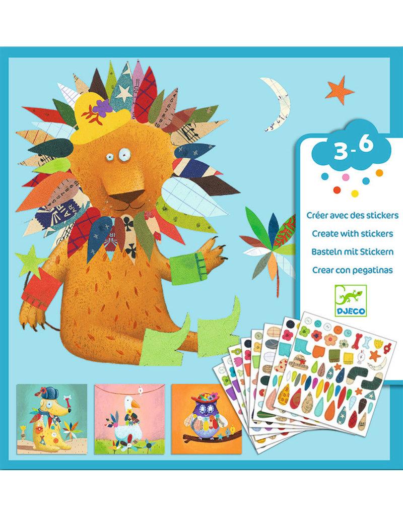 Djeco Djeco knutselset stickers dieren dj08932