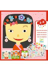 Djeco Djeco creëer met stickers Verschillende gezichten dj08934