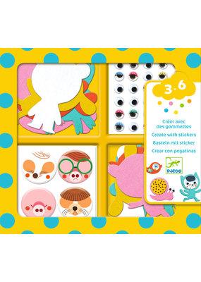 Djeco Djeco creëer met stickers, Dieren