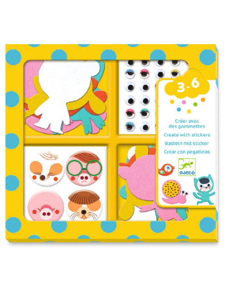 Djeco Djeco creëer met stickers, Dieren dj09050