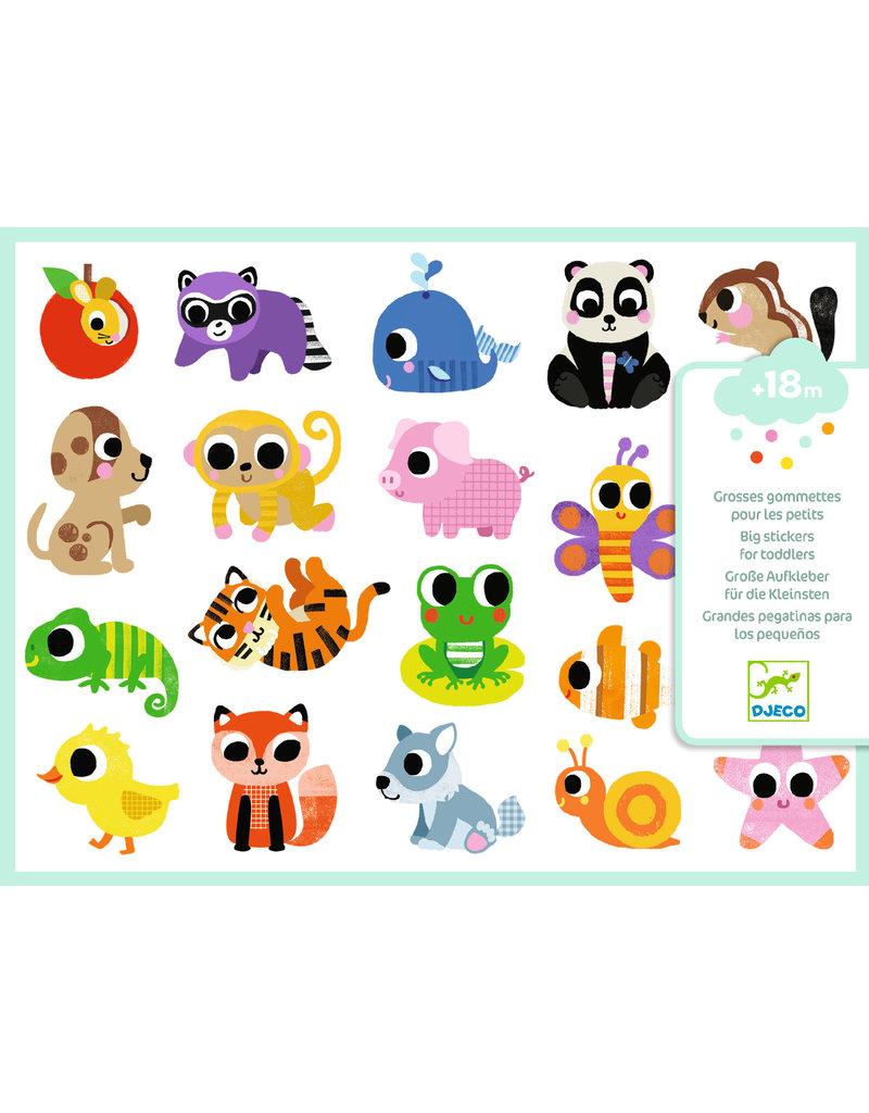 Djeco Grote stickers babydieren dj09084