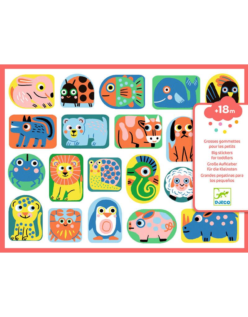 Djeco Djeco grote stickers dieren DJ09088