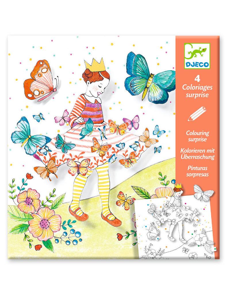 Djeco Djeco kleurplaten lady butterfly dj09629