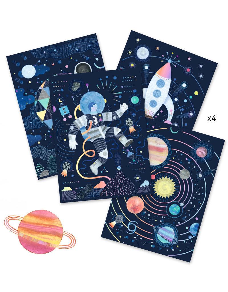 Djeco Djeco kraskaarten ruimte dj09727