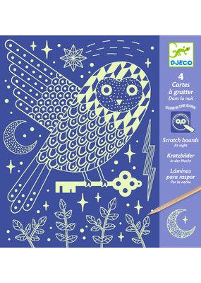 Djeco Djeco kraskaarten in de nacht dj09735