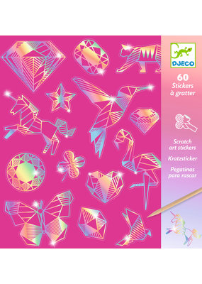 Djeco Djeco metallic krassstickers diamant