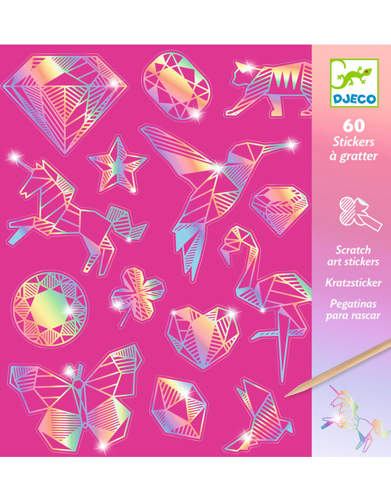 Djeco Djeco metallic krassstickers diamant dj09736