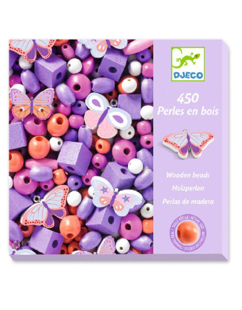 Djeco Djeco houten kralen vlinders dj09810