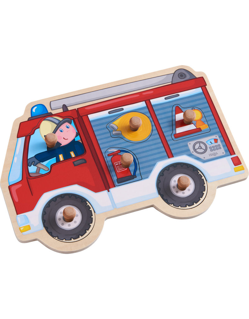 Haba Haba inlegpuzzel brandweerauto
